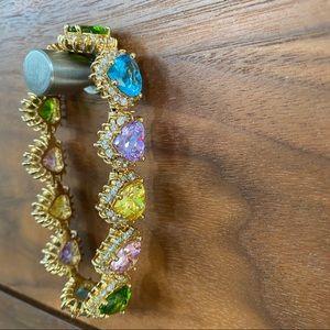 NOIR Multicolor Heart Bracelet Fine CostumeJewelry